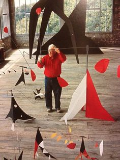 """Just as one can compose colors, or forms, so one can compose motions.""--Alexander Calder (must show balance, must use organic shapes) Alexander Calder, Mobile Sculpture, Sculpture Art, Sculptures, Abstract Sculpture, Land Art, Op Art, Atelier Theme, Mobiles"
