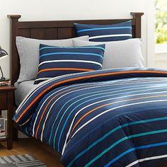 Newport Stripe Duvet Cover + Sham #pbteen