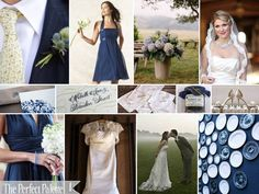 {A Summer Wedding in the Country}: A Palette of Blues