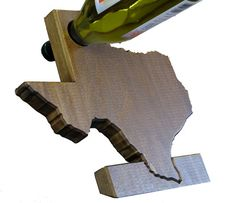 The Wine Recline - Balancing Wine Bottle Holder - wood letters, states, & logos, unique wine gift, gravity wine rack (State: California) Used Woodworking Machinery, Woodworking Jointer, Woodworking Bench Plans, Woodworking Projects For Kids, Fine Woodworking, Wood Wine Bottle Holder, Wine Glass Rack, Wine Holders, Wine Racks