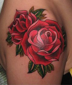 Tattoos of roses go back as far as pictograms go. They are known for their multitude of colors, and used as a token of love, friendship, or even sorrow!