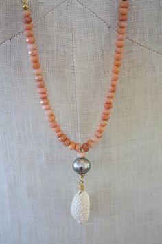 Handmade Semi Precious Stone Necklace with by CocoBelleBijouxByJCB, $248.00