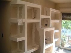 Cabinet, Cupboard, Living Roon, Niche Design, Gypsum, Drywall, Ceiling Design, Bookcase, House Design