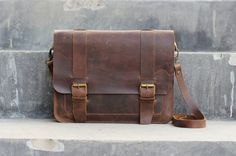 Handmade Ipad Mini Leather Messenger Bag / Briefcase  by JooJoobs.com Seriously cool gift!! Customization requests accepted