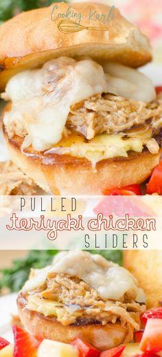 Pulled Teriyaki Chicken Sliders - Cooking With Karli