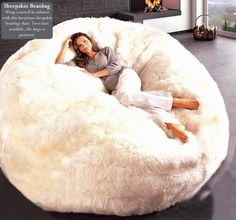 Natural Sheepskin Beanbag Chair: Weekends are meant to be spent in your PJs lounging around. Curl up in a Natural Sheepskin Beanbag Chair ($1,200) with a great book, a classic movie, or even an friend while you recharge in style.  — Katie Henry, associate editor