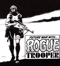 Rogue Trooper:  Future War Judge Dredd Comic, Abc Warriors, 2000ad Comic, Science Fiction Art, Comic Artist, Rogues, Golden Age, Comic Strips, Soldiers