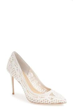 d1f25fe4b299 Imagine by Vince Camuto  Olivia  Macramé Pointy Toe Pump (Women) Women s  Pumps