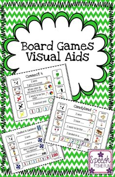 Speech Time Fun: Board Games Visual Aids for popular board games!