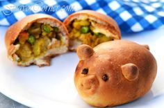 Today I made these cute little stuffed breads in animal shapes. I just loved making them and had a great time while I baked these pretty little stuffed buns. I tried them in piglet shape and our regular bun style. This stuffed bread is not only endearing to look at, but also super soft and...