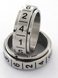 Amazon.com: (Size 10) D-6 Spinner Dice Ring. Stainless Steel, Even Odds for All Numbers, Replaces 6 Sided Dice for Gaming: Toys & Games