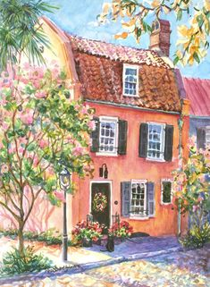 The  Pink House Fine Art Print