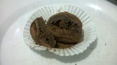 brigadeiro de cacau com recheio de bolo de chocolate