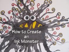 ink monster as an extension of Go Away Green Monster story or great haloween art