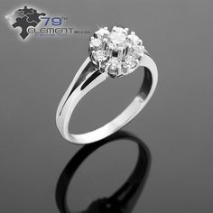 unusual and lovely engagement ring only in 79diamenty.pl