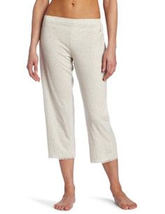 Tommy Hilfiger Women's Elastic Capri Top With Cuff, Heather Grey, X-Small for $26.60