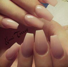 Perfect shape! #ballerina aka #coffin style nails