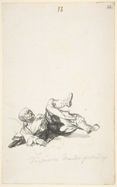 Goya (Francisco de Goya y Lucientes).  He Wakes Up Kicking, 1801–3