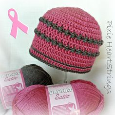 Cute Chemo Caps! Please consider donating your skills to Crochet for Cancer...