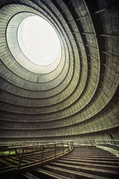 24 Cooling tower of an abandoned power plant 620x929 33 Beautiful But Scary Abandoned Places In The World