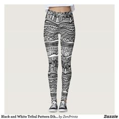 Black and White Tribal Pattern Ethnic