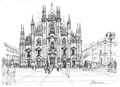Duomo di Milano - schizzo