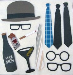 Mad Men Photo Booth Prop Collection Set or A by livelaughlovelots, $45.50