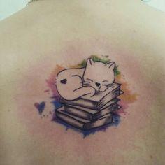 Kitty/book love