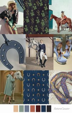 Pattern Curator color, print & pattern trends, concepts, insights and inspiration Color Collage, Lucky Horseshoe, Color Trends, Design Trends, Color Inspiration, Print Patterns, Print Design, Graphic Design, Concept