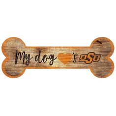 Oklahoma State Cowboys Dog Bone Wall Sign, Multicolor