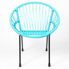 Turquoise scoubidou and salons on pinterest for Chaise enfant scoubidou