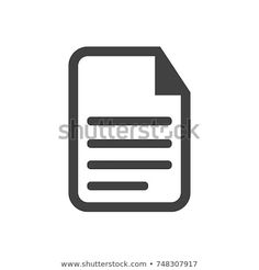 Paper icon or symbol vector, notepad, document, outline
