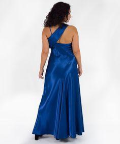 Φόρεμα Μάξι Μπλε Σατέν   Vaya Fashion Boutique