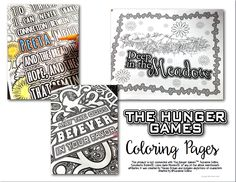 The Hunger Games Coloring Pages Book Hunger games Coloring