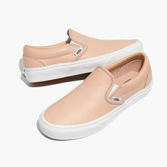 Vans® Unisex Classic Slip-On Sneakers in Frappe Leather women's 8.5