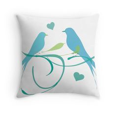 Love Birds - Throw Pillow Cover - http://annumar.com/en/designs/love-birds-throw-pillow-cover