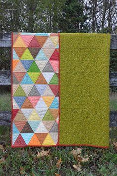 1000 pyramid quilt | Thousand Pyramids quilt
