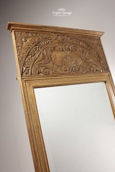 Period Mirrors with Carved Oak Panels