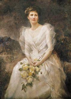 Edward Robert Hughes [English Pre-Raphaelite Painter, 1851-1917] Lucy Celia Ashton (neé Dunn-Gardiner) later Countess of Scarbrough It's About Time