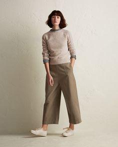 Women's Cotton Twill Side Fastening Trouser