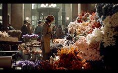 Lisette Martin Scorsese, Hugo Movie, Hugo Cabret, Flower Cart, Film Inspiration, Film Stills, Floral Wedding, Christmas Tree, History
