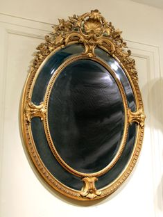 A Stunning Late 19th Century Carved Giltwood And Gesso Mirror
