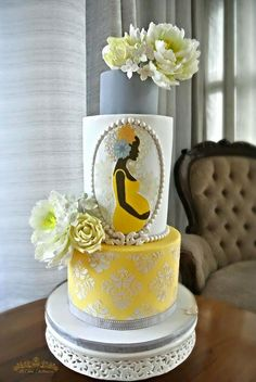 Mother Africa - Cake by Sumaiya Omar - The Cake Duchess SA Gorgeous Cakes, Pretty Cakes, Amazing Cakes, Torta Baby Shower, Bolo Fashionista, Africa Cake, Pregnant Cake, Bolo Cake, Mothers Day Cake