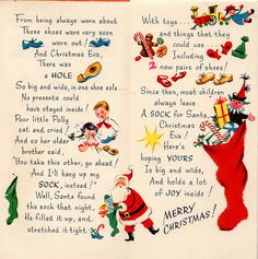 Vintage christmas stocking story