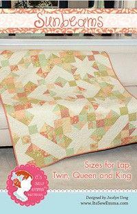 Sunbeams Quilt Pattern<BR>Jocelyn Ueng for It's Sew Emma