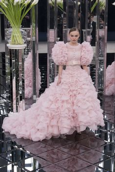 Chanel   Haute Couture - Spring 2017   Look 66 (model: Lily-Rose Depp)