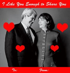 Happy Valentine's Day, from our nation's presidential candidates, to you.