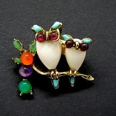 Swoboda owls pin - not a fan of brooches but thought this was cool