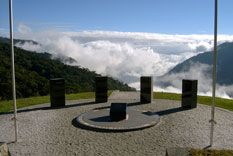 The four sentinels watching over the Kokoda Track... this place is called the Isurava Memorial.