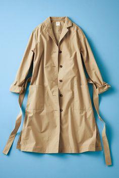 軽い着心地 一枚仕立てのベージュシャツコート フェリシモ